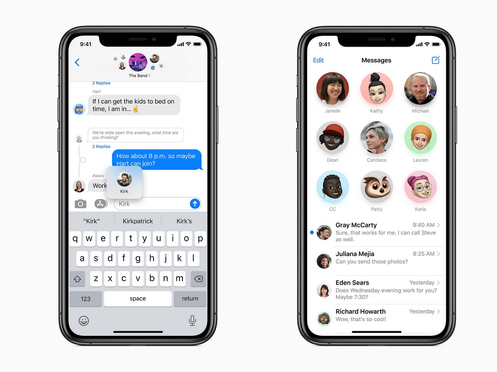 Conversations de groupe iOS 14