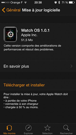 Update Apple Watch Operating System – Step 3