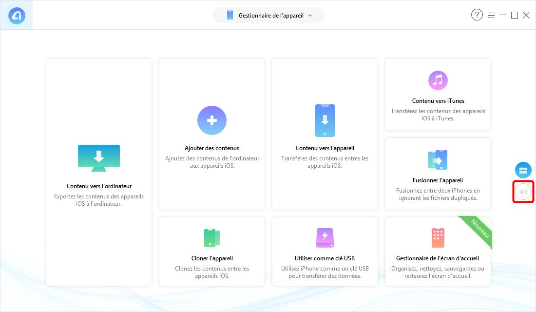 Lancez AnyTrans pour iOS – étape 1