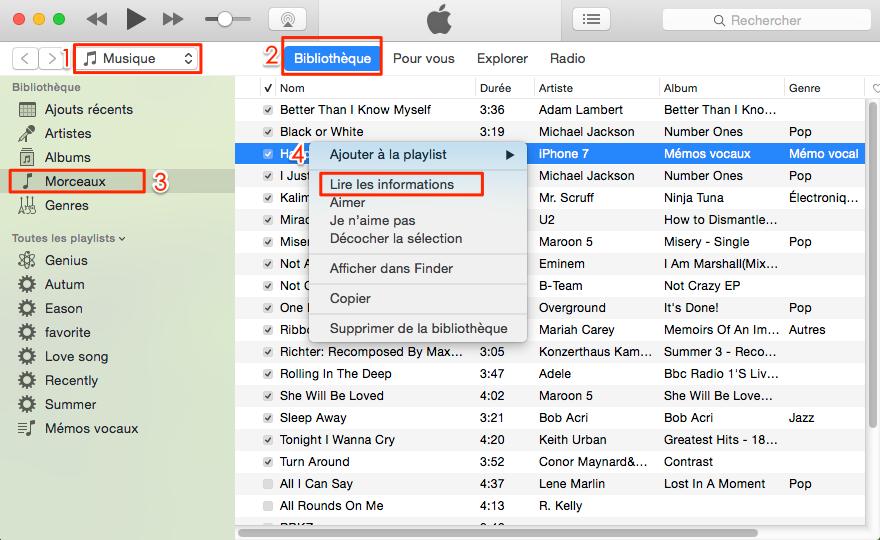 Comment mettre image sur musique iTunes