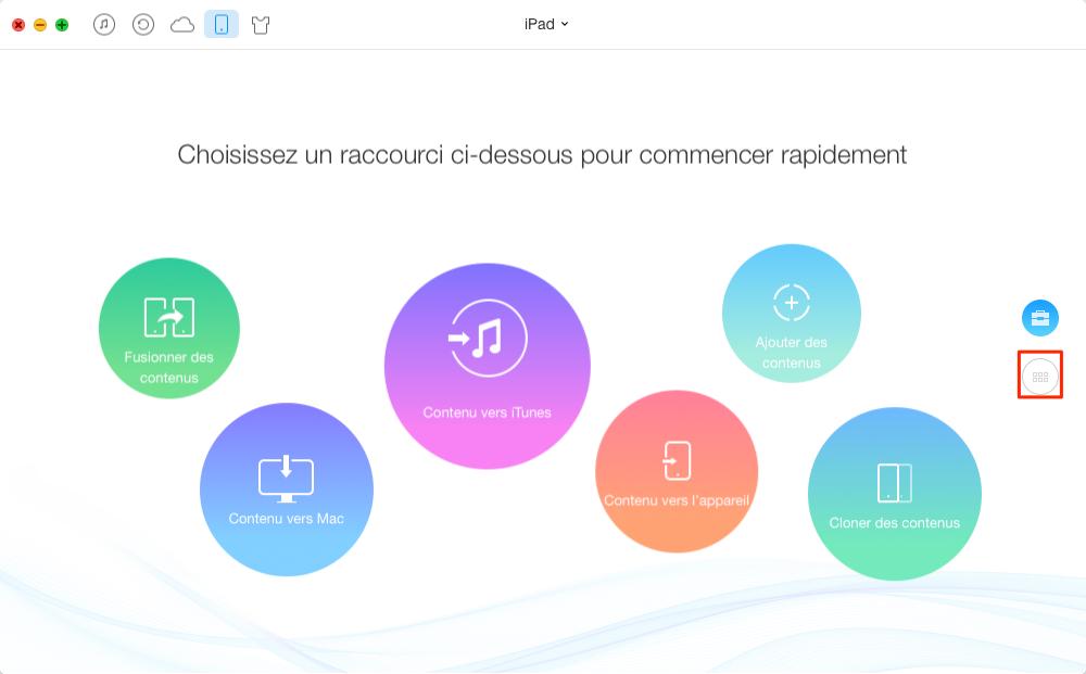 Mettre facilement PDF sur iPad avec AnyTrans - étape 1