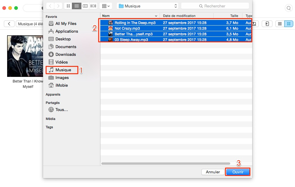 Mettre des chansons sur iPhone - étape 3