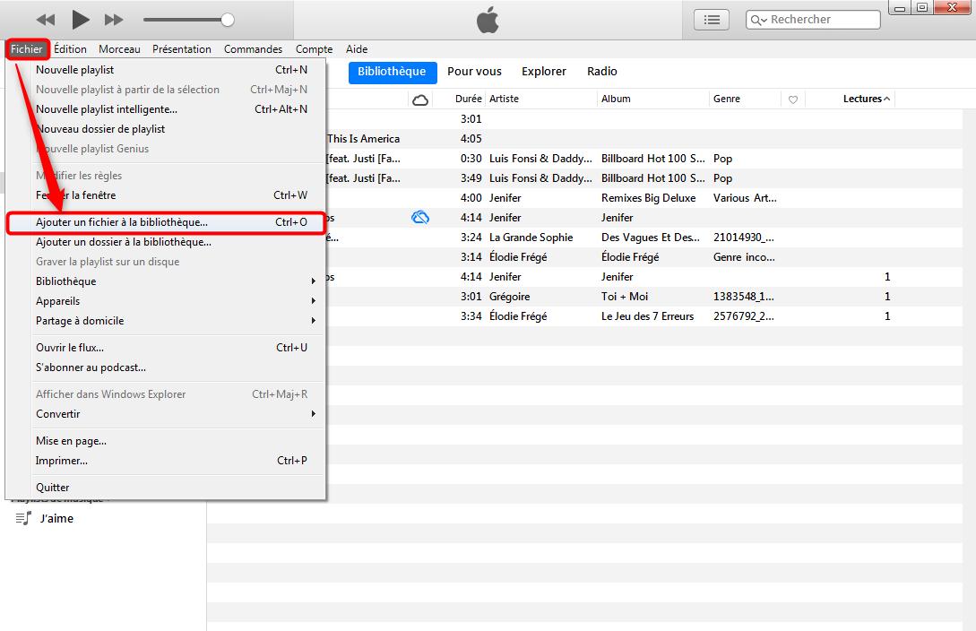 Transférer de la musique PC/Mac vers iPod touch/shuffle/nano – étape 4