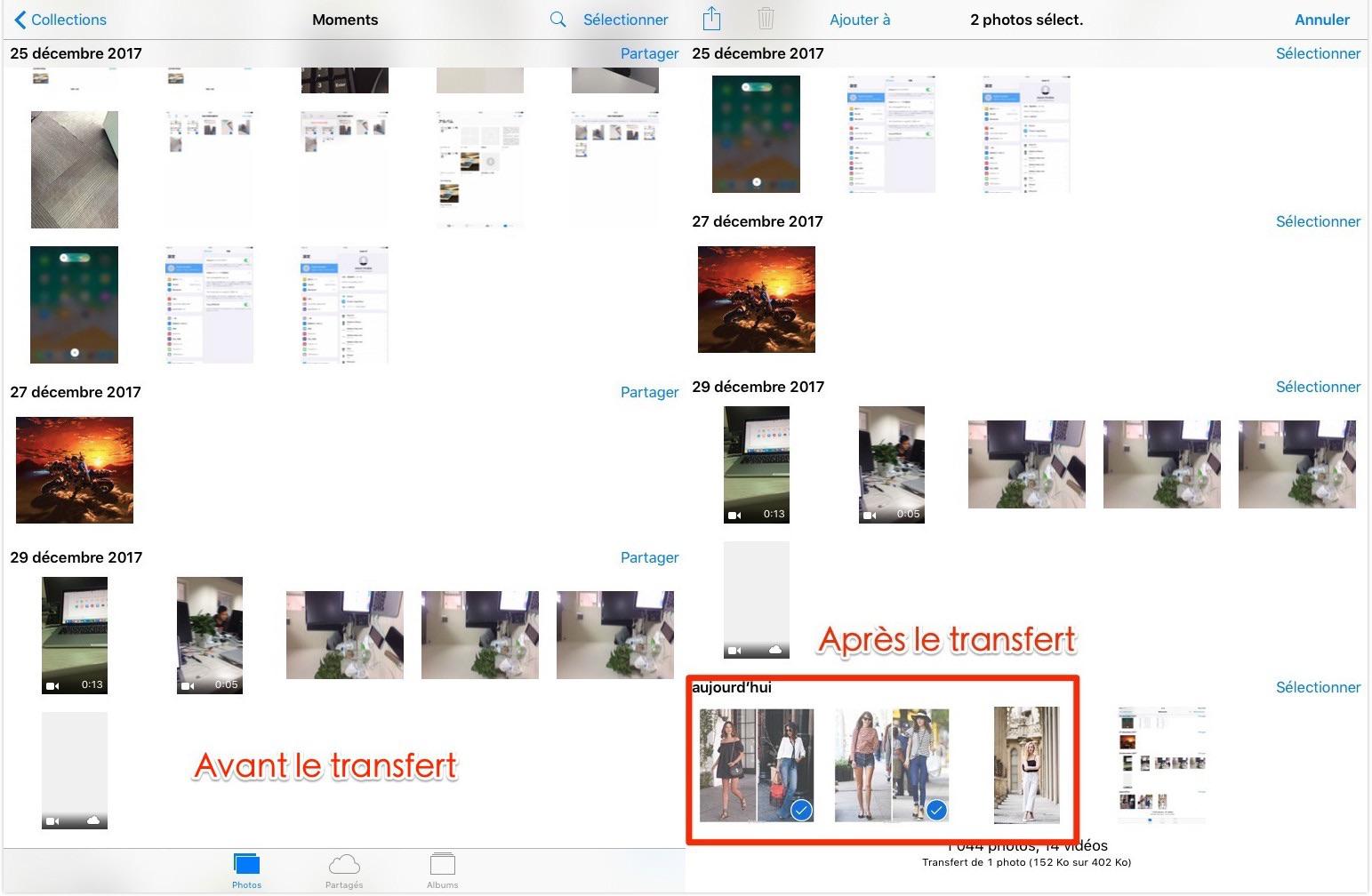 Comment mettre des photos sur iPad Air/Pro – étape 4