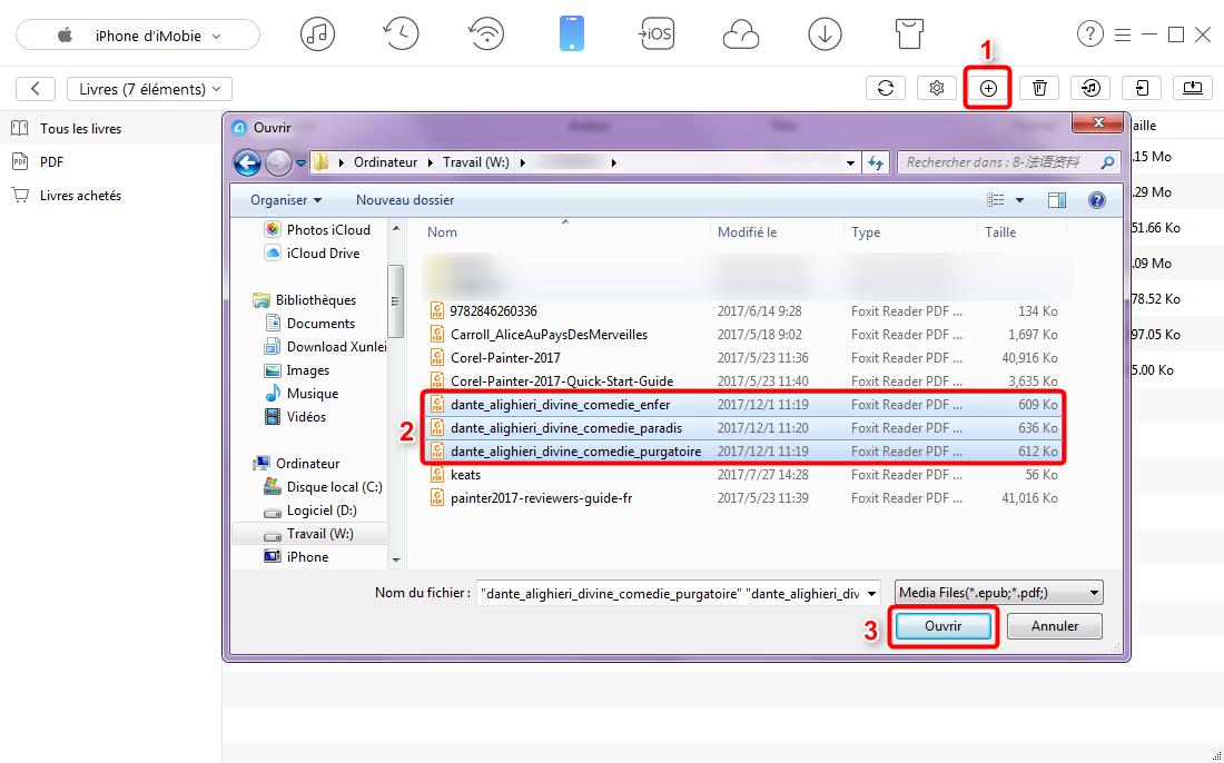 Comment mettre des fichiers PDF sur iPhone - étape 3