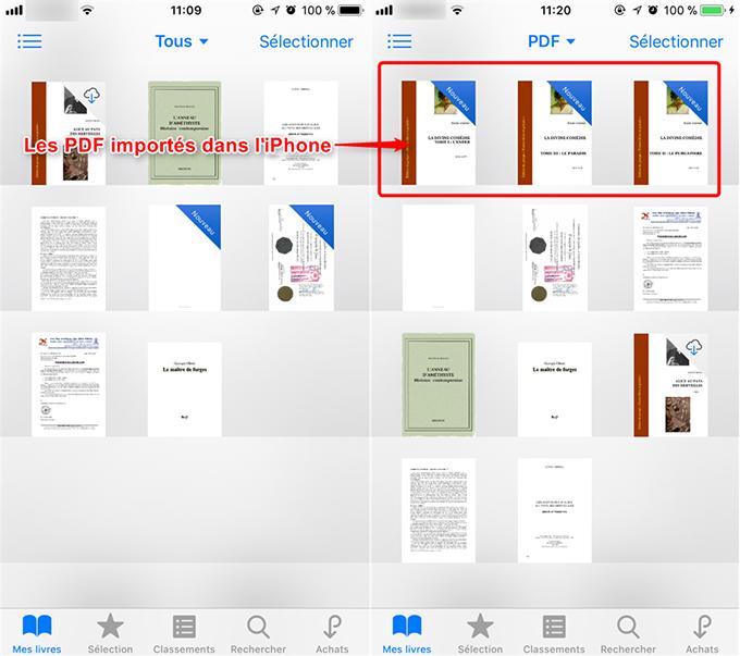 Moyen facile de mettre des fichiers PDF sur iPhone
