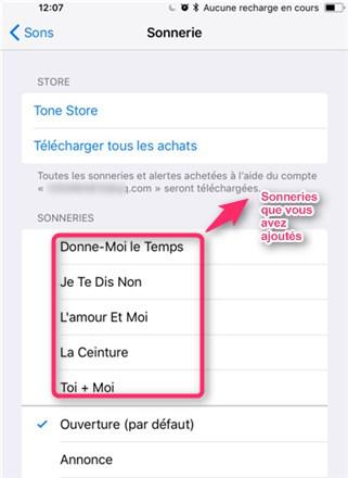 Mettre et ajouter des sonneries sur iPhone sans iTunes