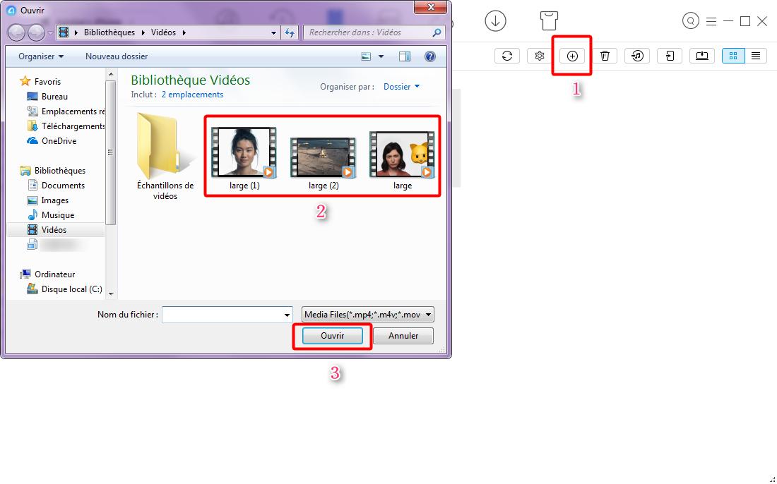 Moyen de transférer les vidéos PC/Mac vers iPhone – étape 3