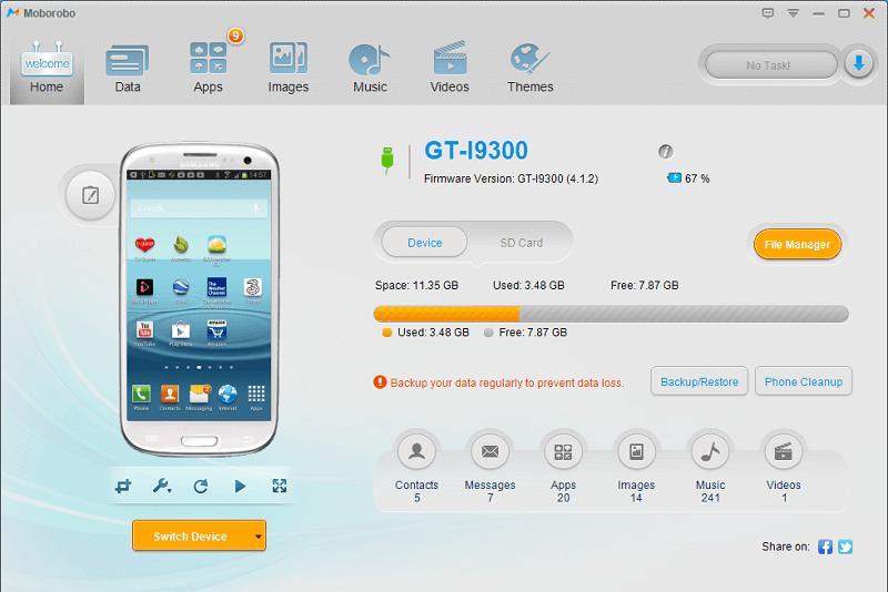 Connexion du smartphone Android à MoboRobo