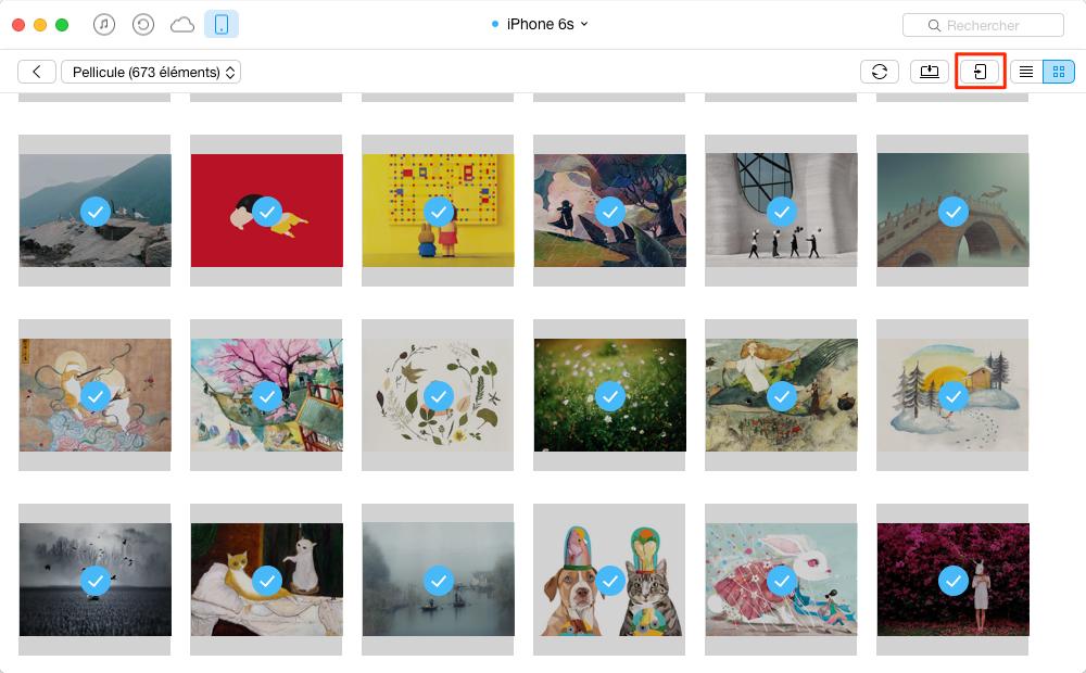 Transférer des photos iPhone 6 vers d'autres appareils – étape 3