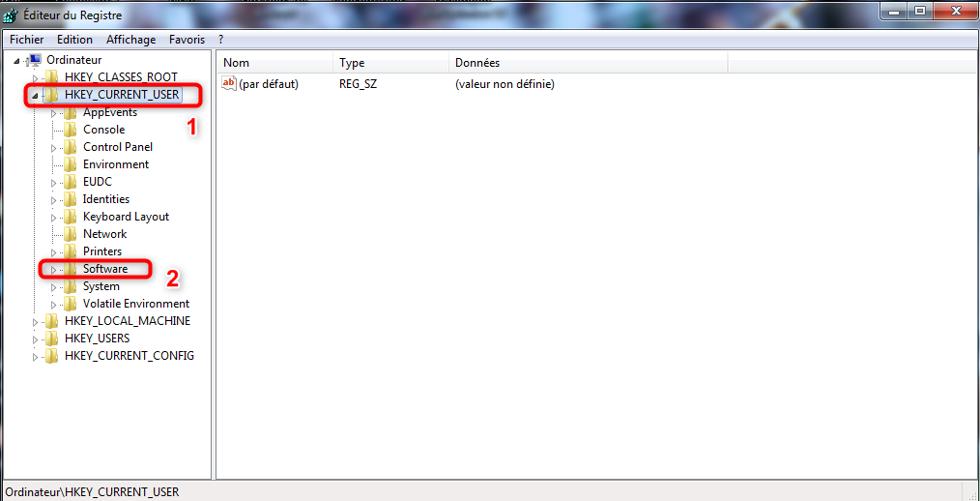 Affichage de la liste des logiciels installés sur l'ordinateur