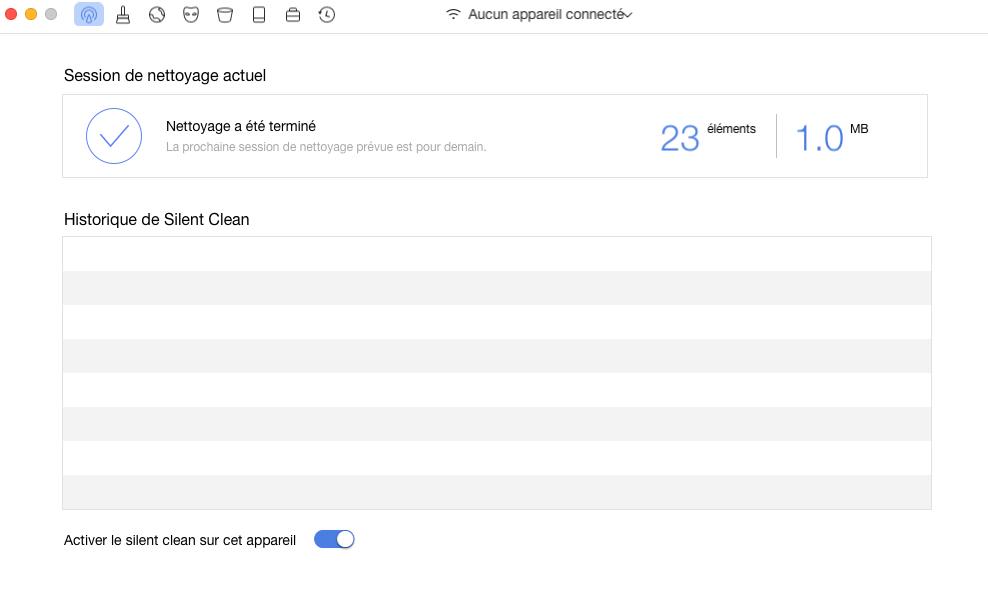 Nettoyer iPhone avec seulement une connexion Wifi – étape 3