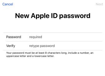 Nouveau mot de passe Apple ID ou iCloud