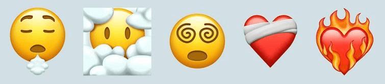 Les nouveaux emoji sur iOS 15 bêta.