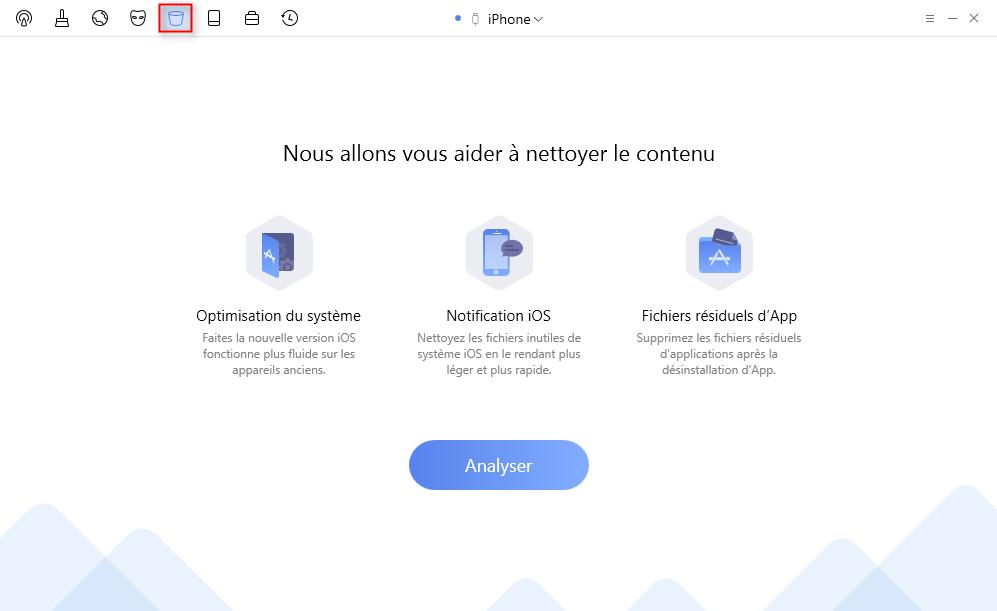 Optimisez les performances d' iOS avec PhoneClean – étape 1