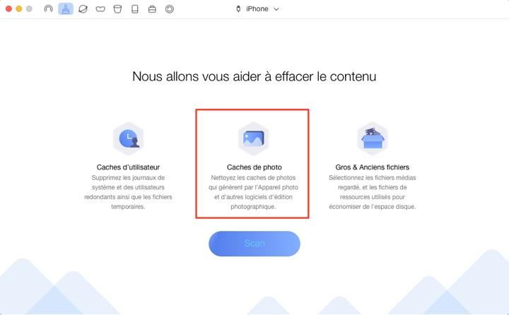 Comment effacer les caches des photos sur iPhone/iPad