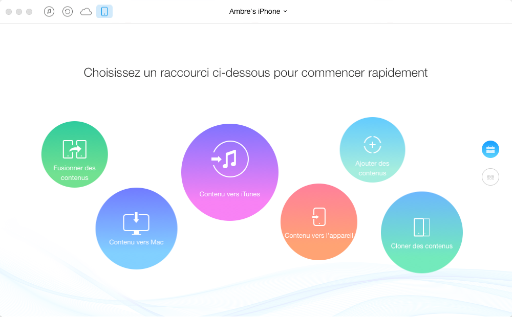 Le transfert d'application à partir d'iTunes à l'iPhone - étape 1