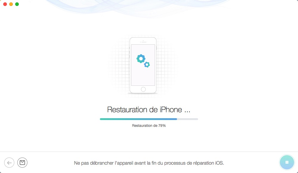 En attente de restauration de l'iPhone - étape 5