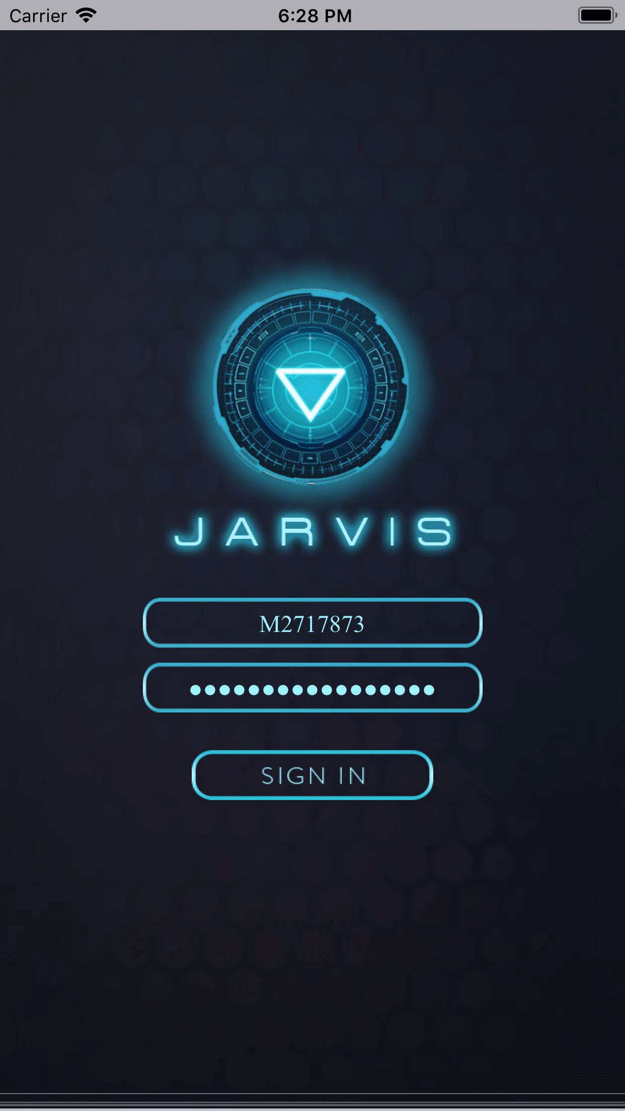 Page d'accueil de Jarvis