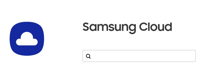 Page d'accueil de Samsung Cloud