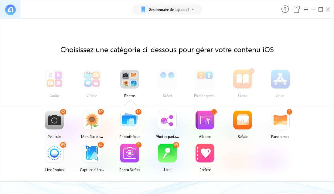Comment transférer les photos facilement sans iCloud