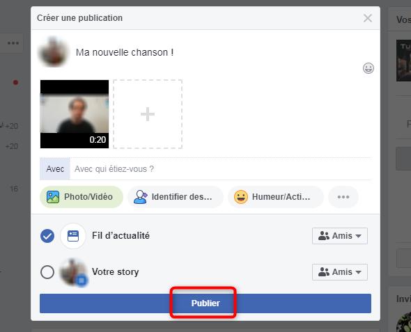 Partager une vidéo sur Facebook depuis l'ordinateur