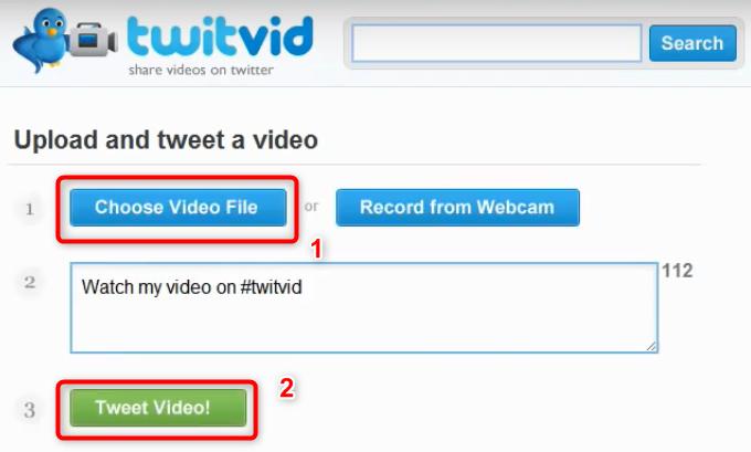 Partager la vidéo sur Twitter via TwitVid