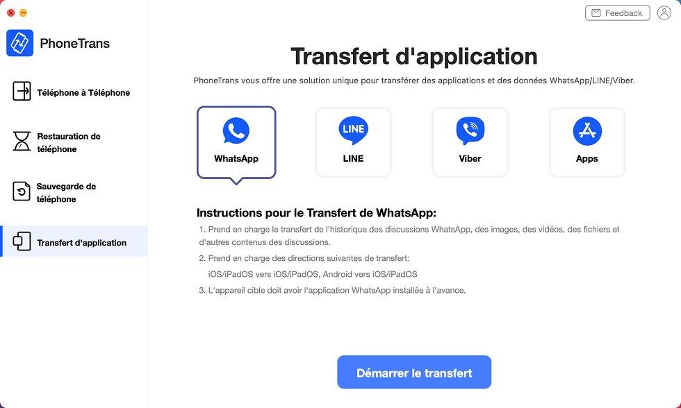 Transfert de WhatsApp