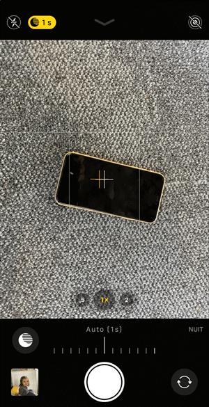 Photo en mode nuit sur iPhone