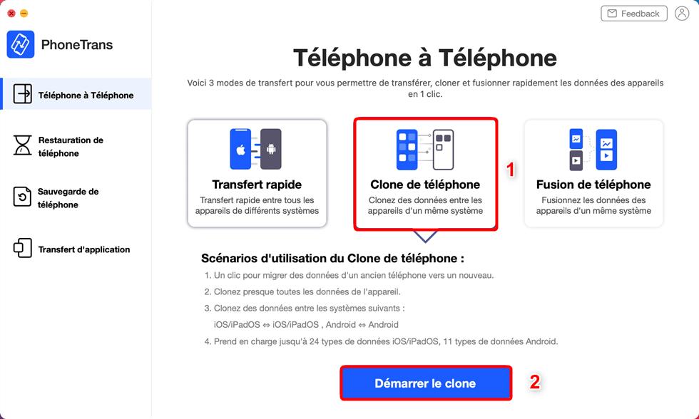 Clone de téléphone