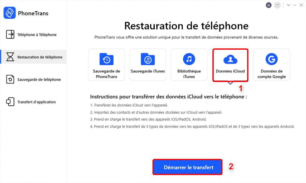 Données iCloud