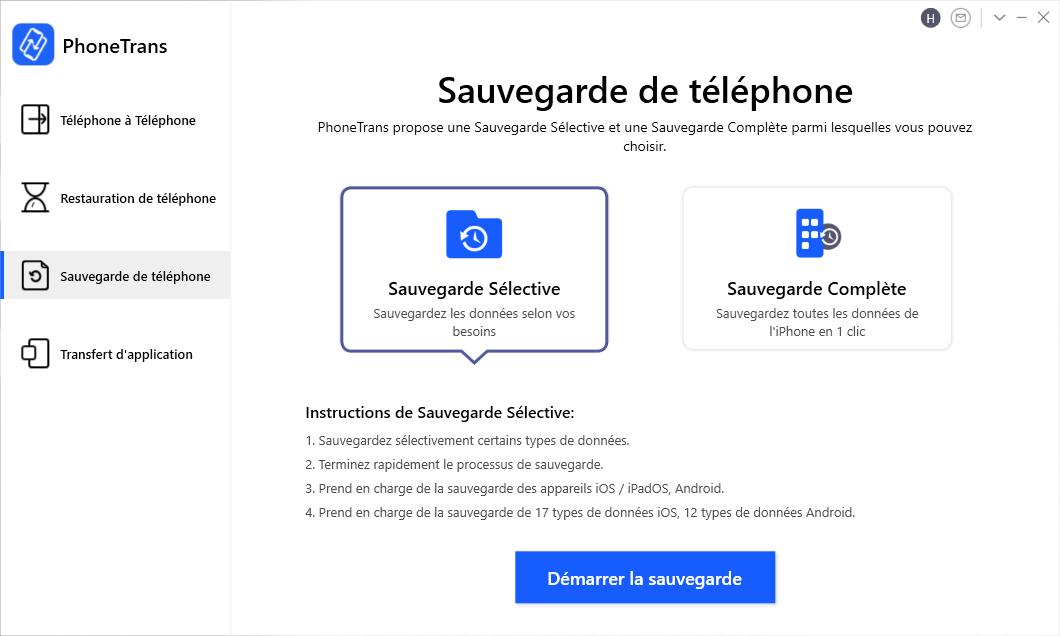 Sauvegarder votre téléphone