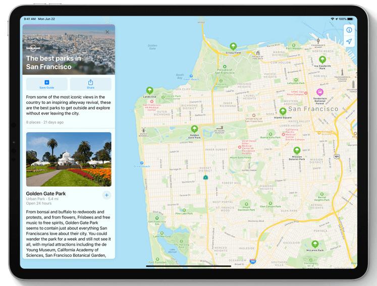 Plans sur iPad