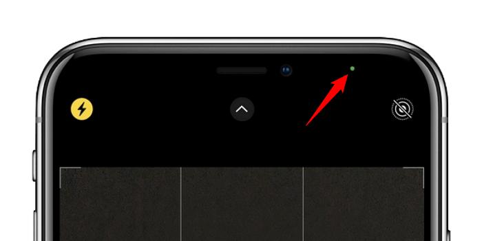 Le point vert sur iOS 14