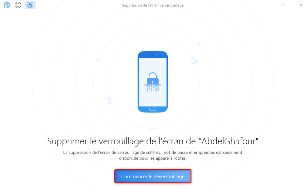 Déverrouiller Android écran cassé
