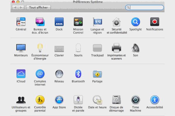Préférences Système Mac