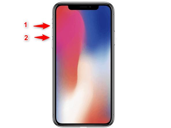 Préparation du redémarrage de l'iPhone 8