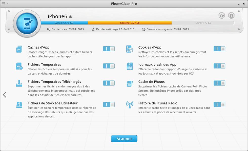 Nettoyer les fichiers inutiles avec iMobie PhoneClean