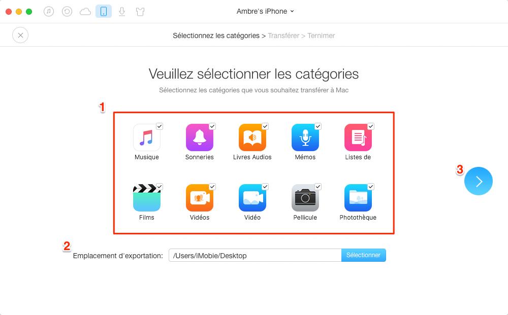 Sauvegarder votre iPhone/iPad/iPod touch en un clic