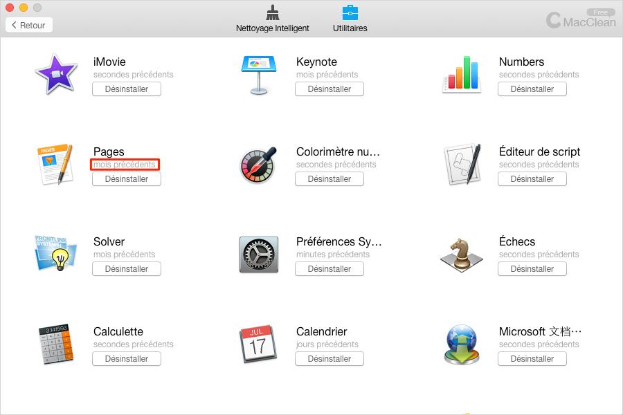 Préparer votre Mac pour la mise à jour - Désinstaller Applications inutiles