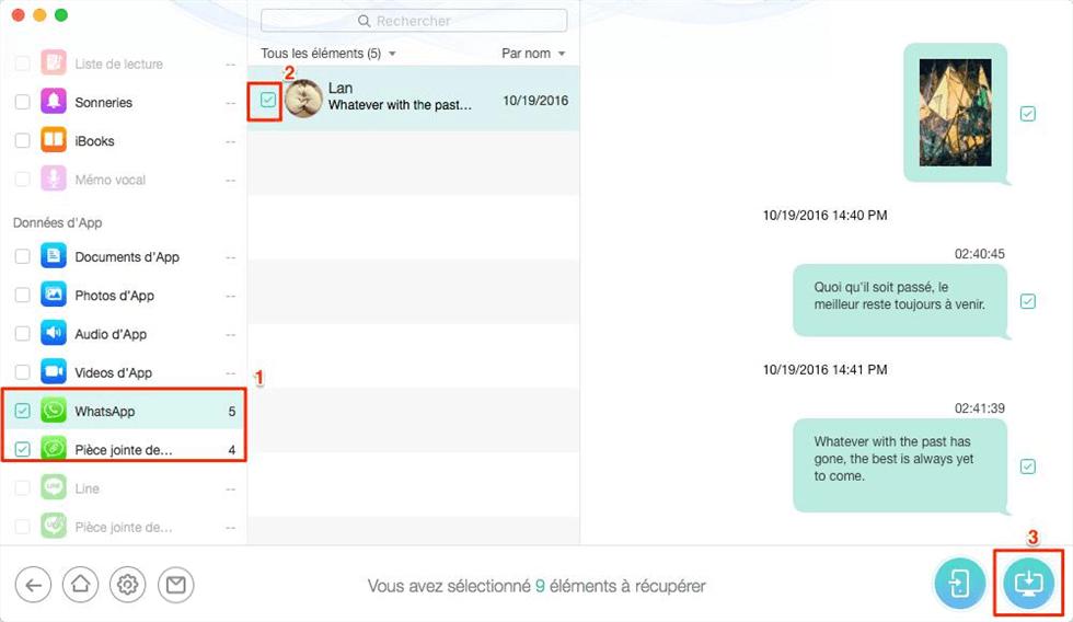 Récupérer les WhatsApp depuis sauvegarde iCloud