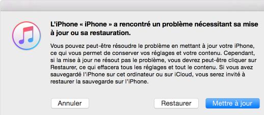 Récupérer le système iOS