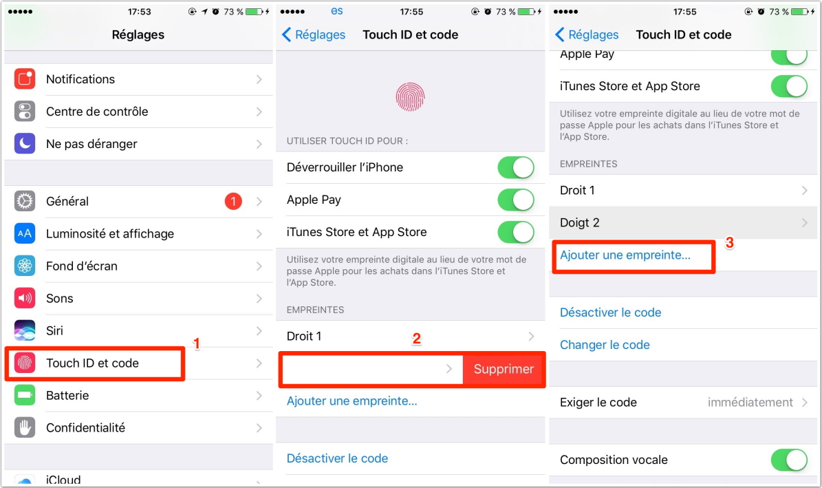 iPhone/iPad/iPod Touch ID fonctionne mal
