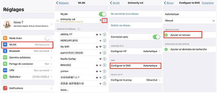 Changer le DNS de Wi-Fi