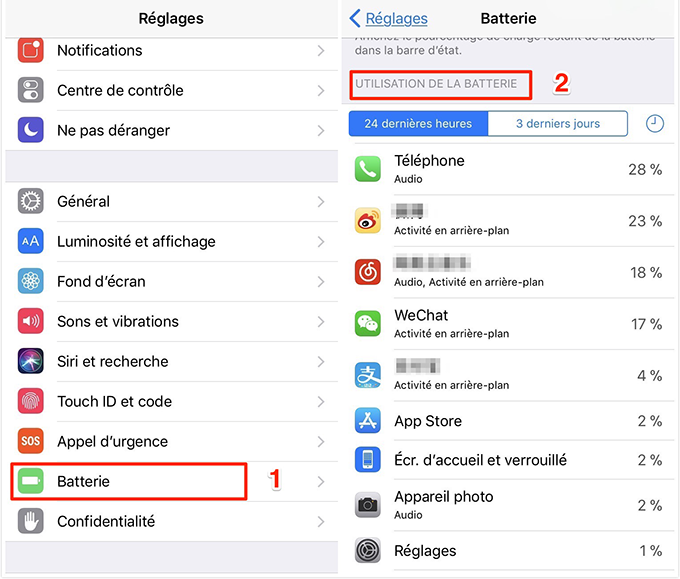 Fermez les applications inutiles