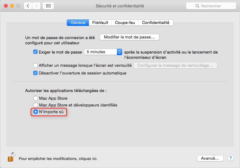 Problèmes communs d'OS X et les solutions