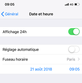 iPhone impossible de connecter à l'App Store