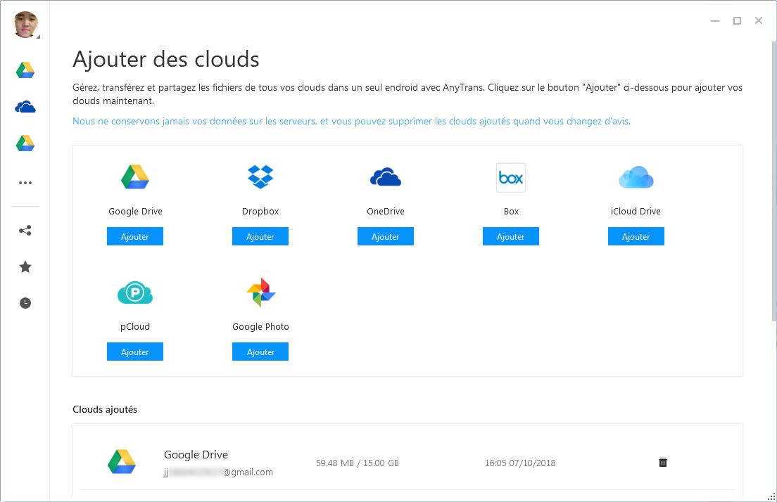 Exporter les fichiers iPhone X vers cloud