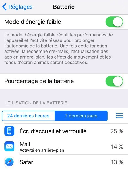 Problèmes et Solutions d'iOS 9/9.1/9.2/9.3 - Question de la batterie sous iOS 9/9.1/9.2/9.3