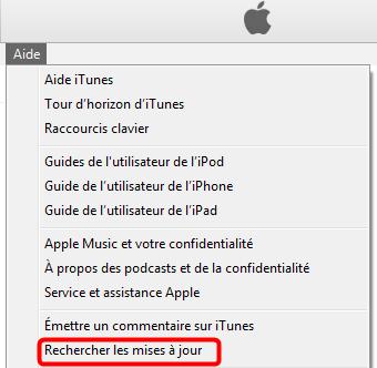 Mettre à jour iTunes